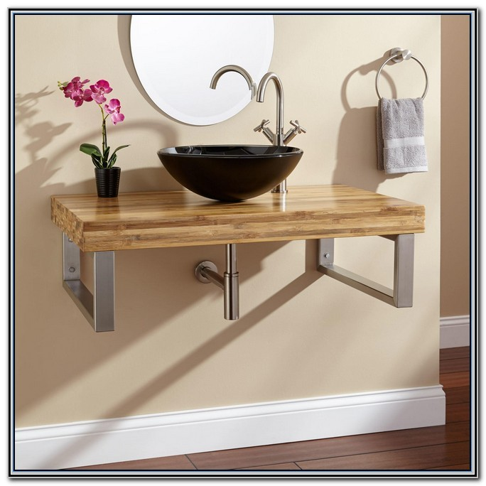 Bathroom Vanity With Rectangular Vessel Sink