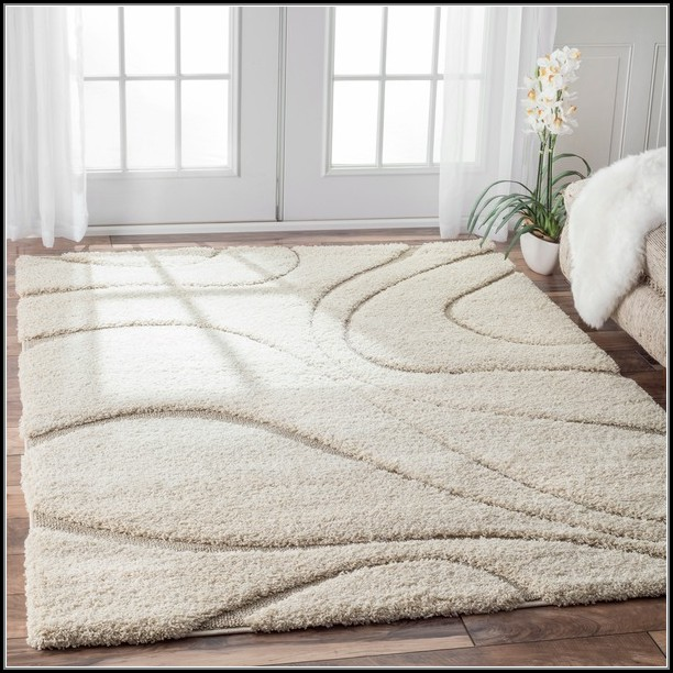 Beige And Ivory Area Rug