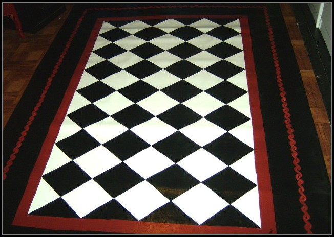 Black And White Checkered Kitchen Rug Rugs Home