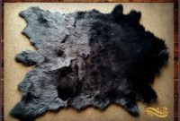 Black Fur Area Rug