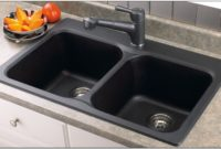 Black Porcelain Double Kitchen Sink