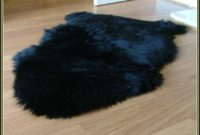 Black Sheepskin Rug Ikea