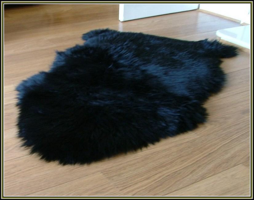 Black Sheepskin Rug Ikea Rugs Home Decorating Ideas