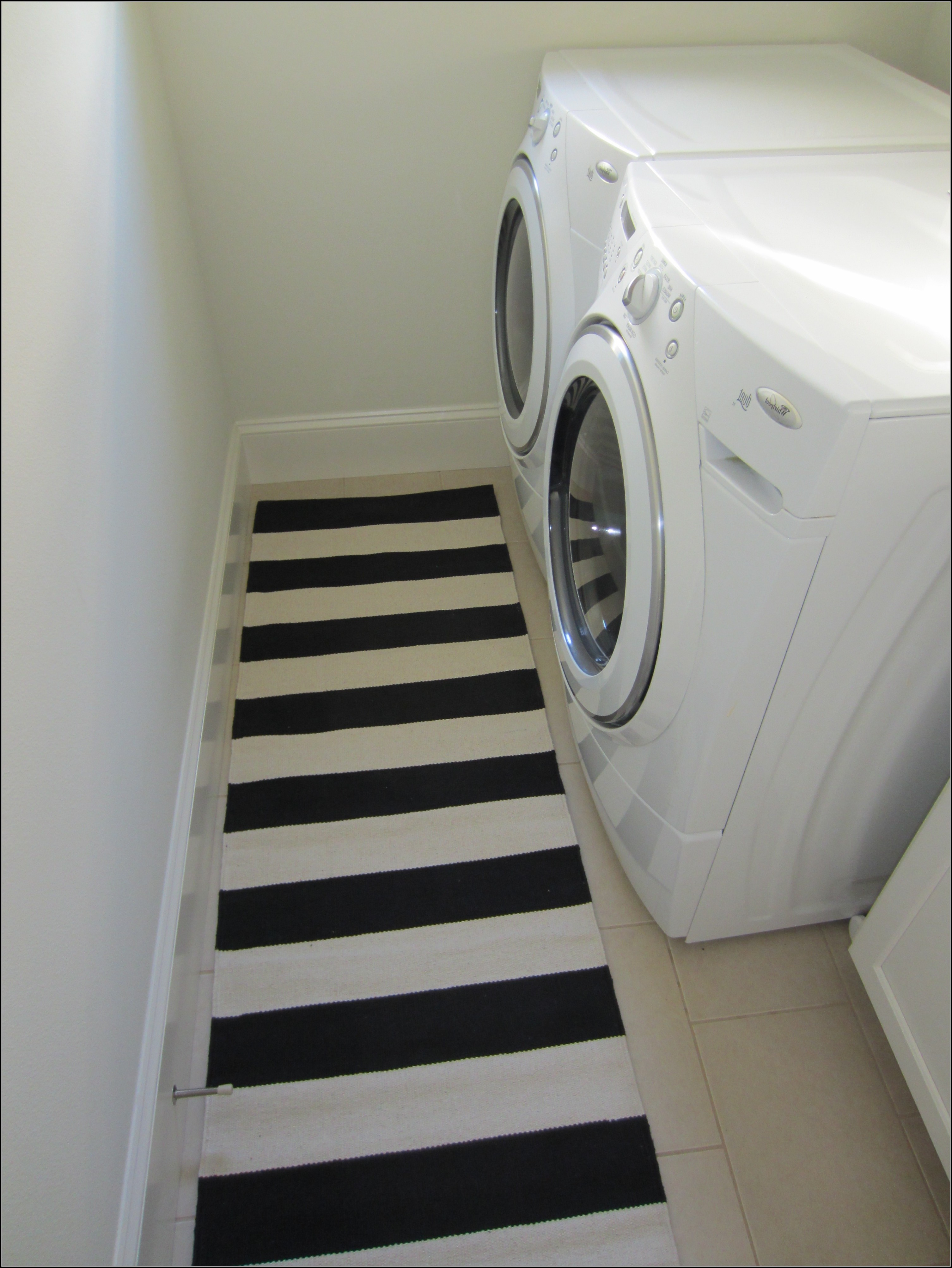 Black White Striped Runner Rug Rugs Home Decorating Ideas