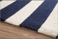 Blue Striped Outdoor Rug
