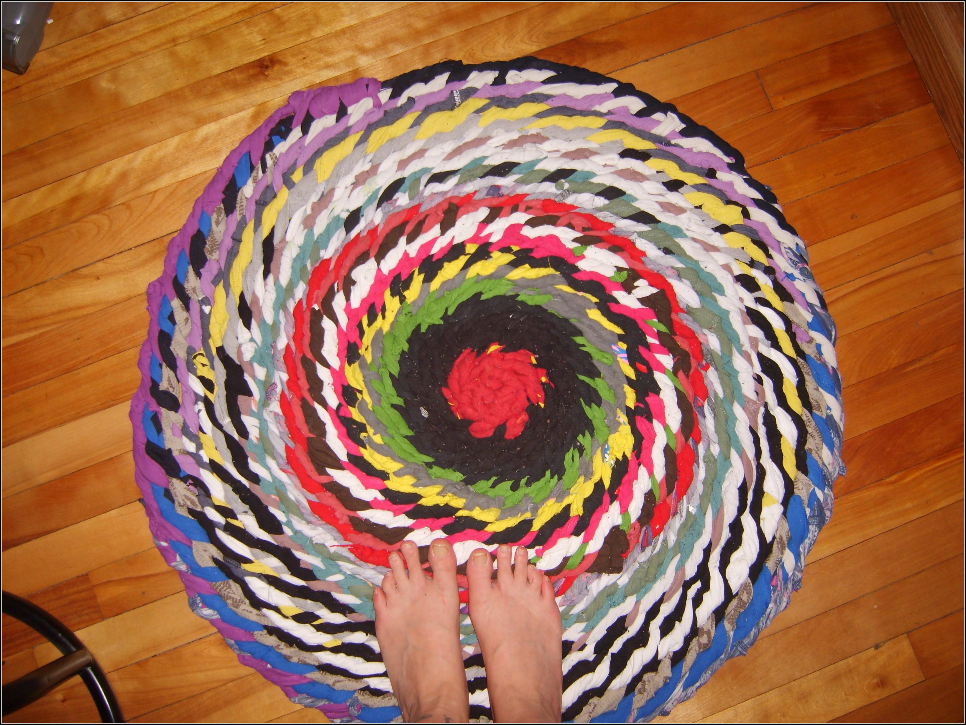 Braided Rag Rug No Sew Rugs Home Decorating Ideas