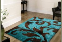 Brown And Aqua Area Rugs