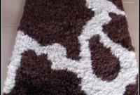 Brown Cow Print Rug