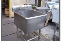 Commercial Stainless Steel Sink Used