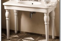 Console Sink With Porcelain Legs
