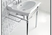 Console Sinks With Metal Legs
