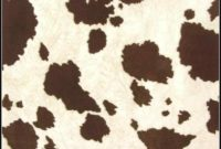 Cow Print Rug Faux