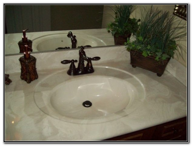 Cultured Marble Vanity Tops With Integrated Sink And
