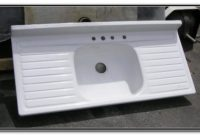 Double Drainboard Porcelain Kitchen Sink
