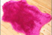 Faux Fur Rug Pink