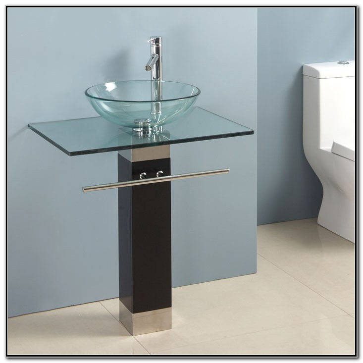 Glass Bowl Sink Vanity Sink And Faucets Home Decorating Ideas