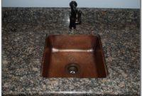 Hammered Copper Bar Sink