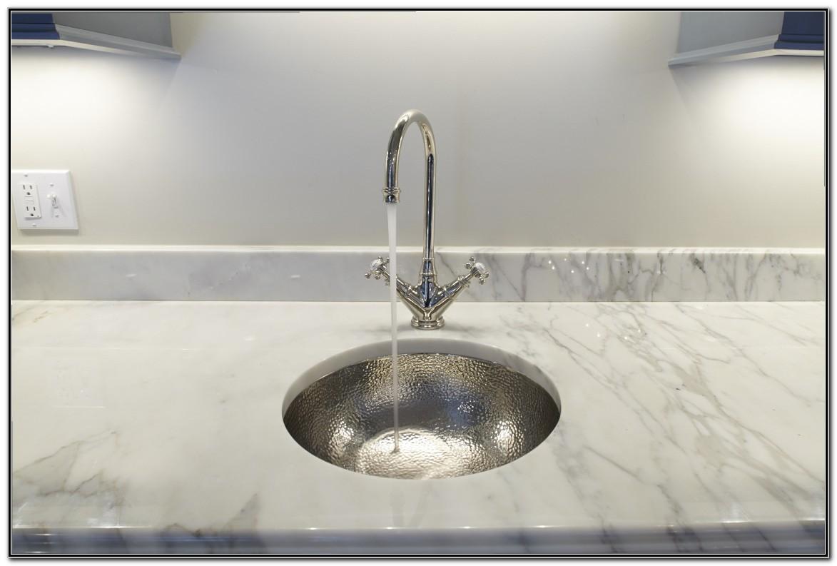Hammered Polished Nickel Bar Sink