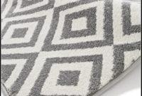 Ikea Grey And White Rug