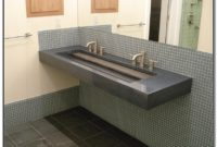 Integrated Bathroom Sink And Countertop