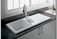 Kitchen Sink With Drainboard Porcelain