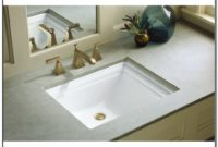 Kohler Memoirs Undermount Bathroom Sink In White