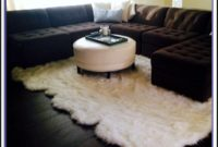 Large Faux Sheepskin Rug