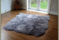 Large Grey Sheepskin Rug