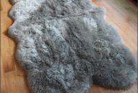 Light Grey Sheepskin Rug