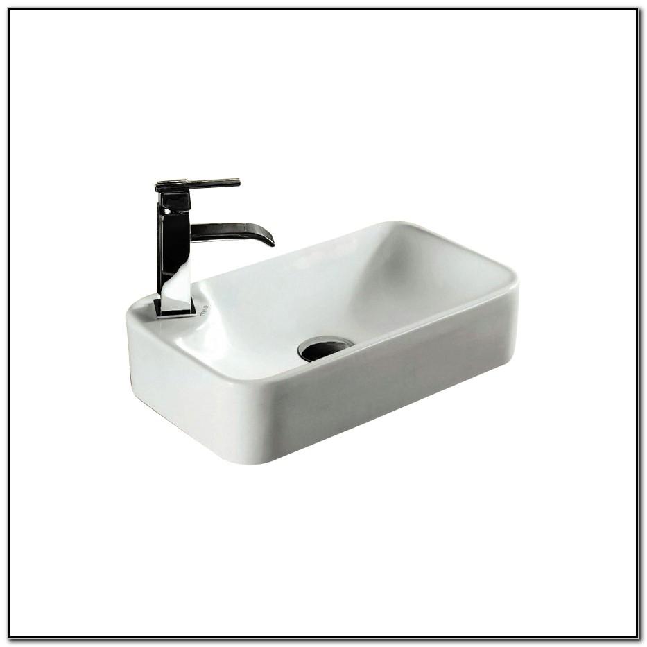 Nameeks Ceramica White Porcelain Rectangular Vessel Sink