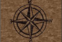 Nautical Compass Area Rug