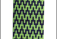 Navy And Lime Green Area Rug