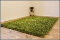 Olive Green Shaggy Rug