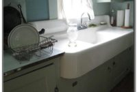 Porcelain Farmhouse Sink With Drainboard