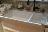 Porcelain Undermount Double Bowl Kitchen Sink