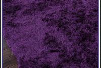 Purple Shaggy Rug 160x230