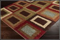 Red And Tan Area Rug