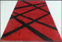 Red Shaggy Rug 160 X 230