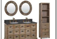 Rustic Pine Double Sink Vanity