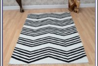 Sillerup Rug Low Pile Blackwhite