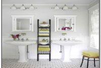 Small Bathroom Pedestal Sink Storage