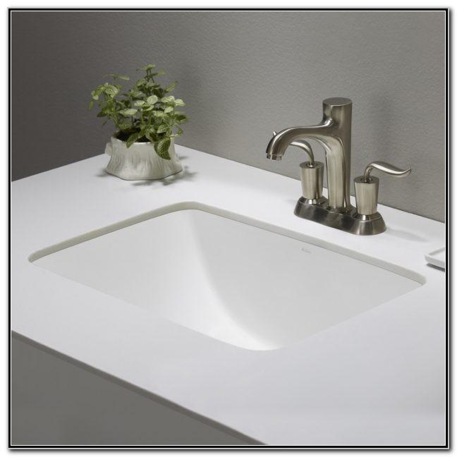 Small Round Undermount Bathroom Sinks