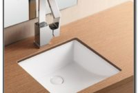 Small Square Undermount Bathroom Sink