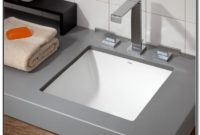 Small Square Undermount Bathroom Sinks