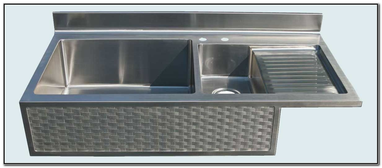 Stainless Steel A Sink With Drainboard And