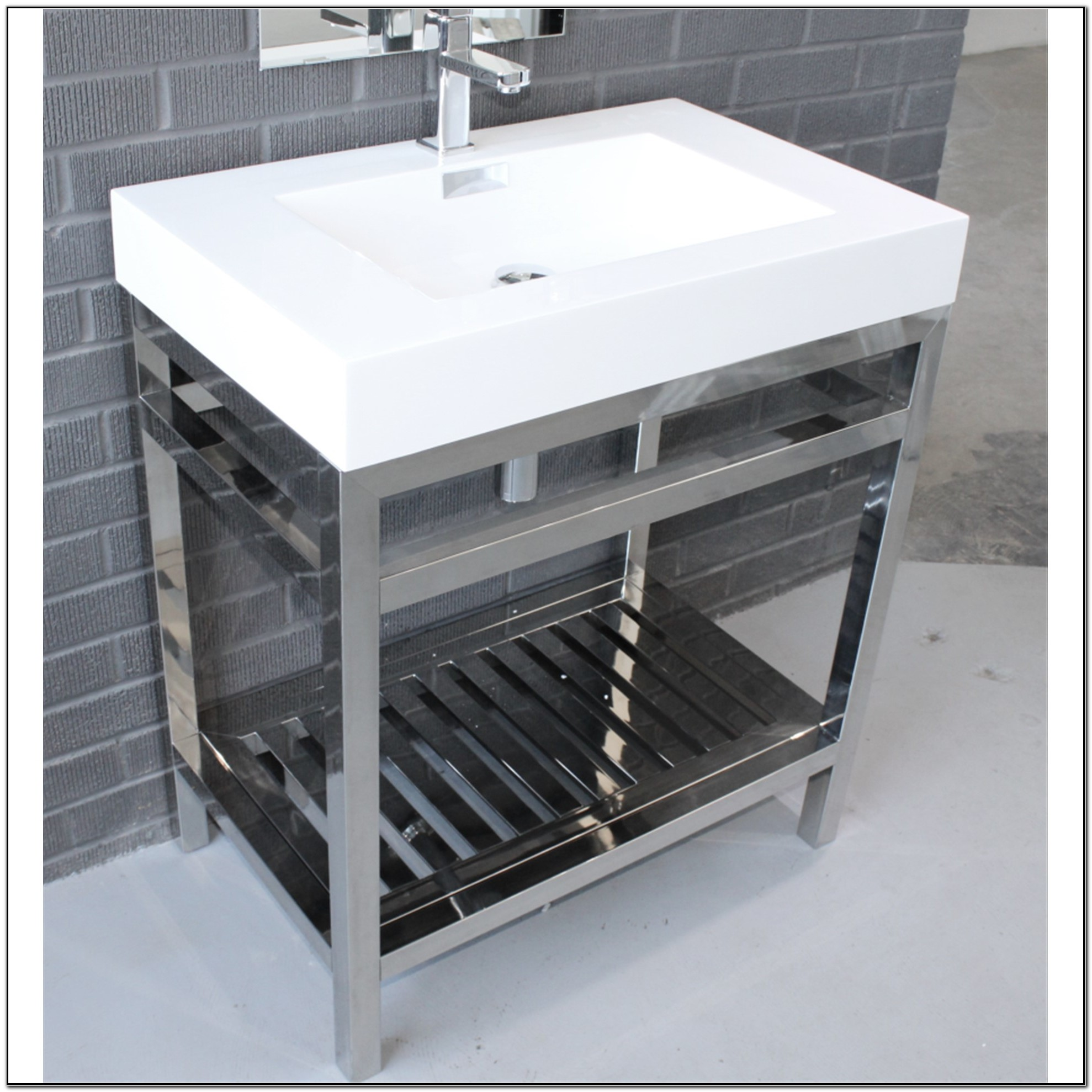 Stainless Steel Freestanding Sink Unit Sink And Faucets Home