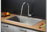 Stainless Steel Sink Chrome Faucet