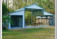 Storage Shed With Attached Carport