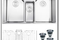Triple Bowl Undermount Stainless Sink