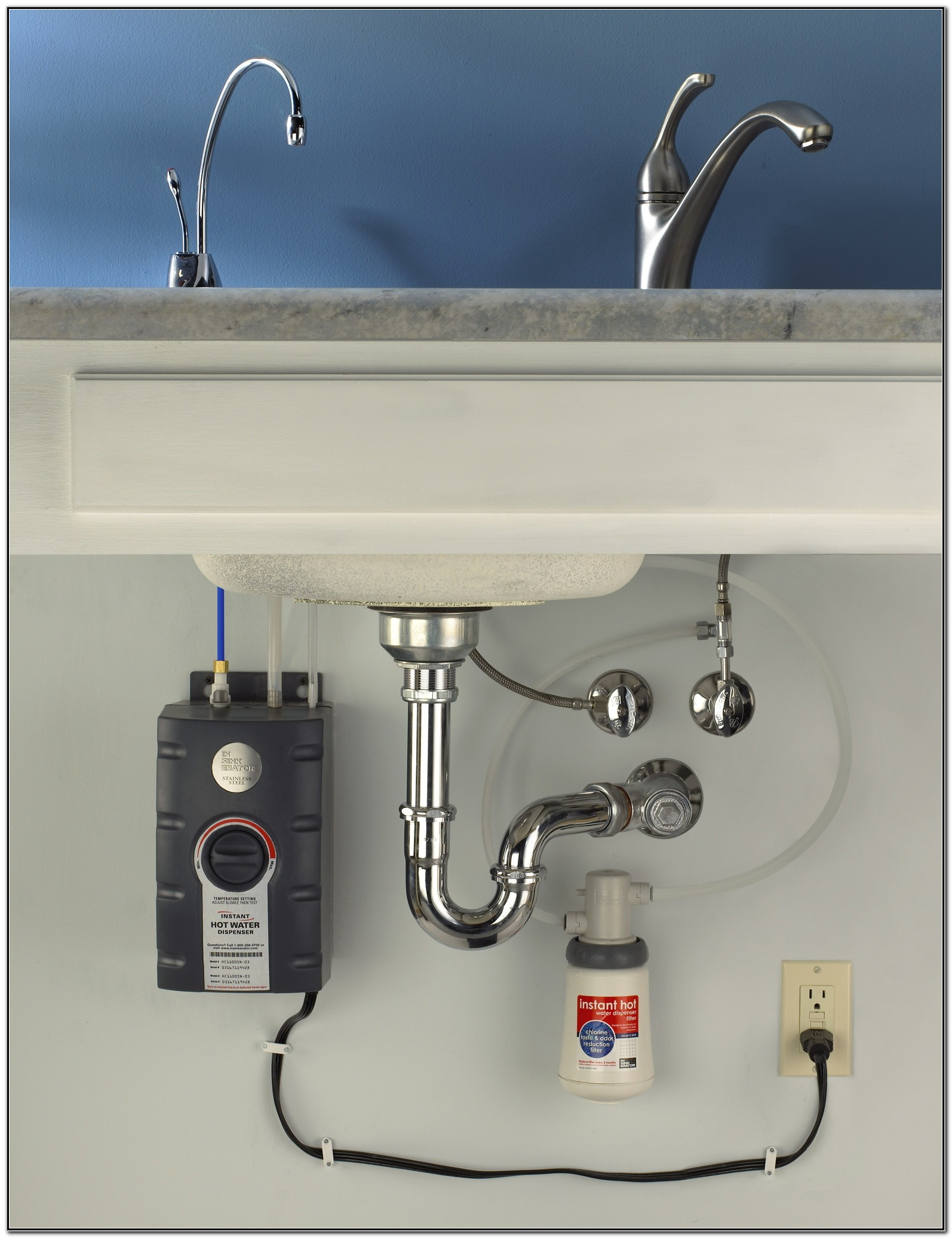 Under Sink Hot Cold Water Dispenser And Faucets
